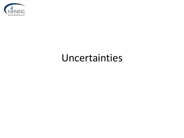 Uncertainties