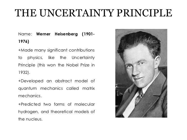Uncertainty Werner Heisenberg Atomic Model