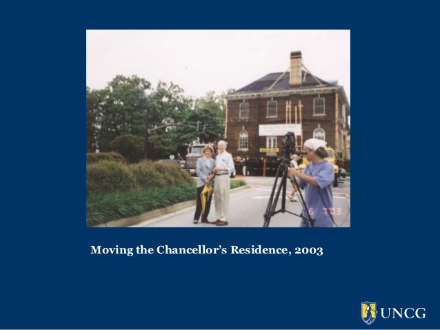 Moving the Chancellor's Residence, 2003