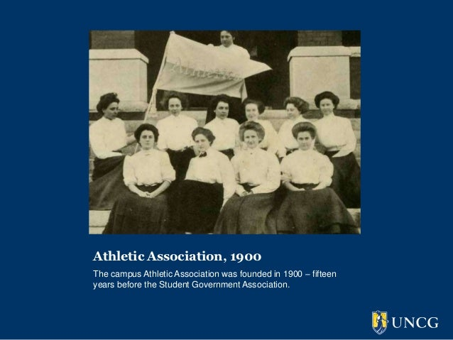 Athletic Association, 1900The campus Athletic Association was founded in 1900 – fifteenyears before the Student Government...