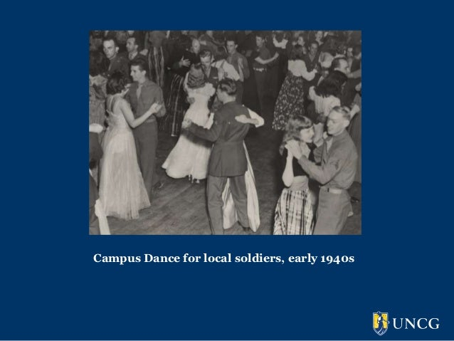 Campus Dance for local soldiers, early 1940s