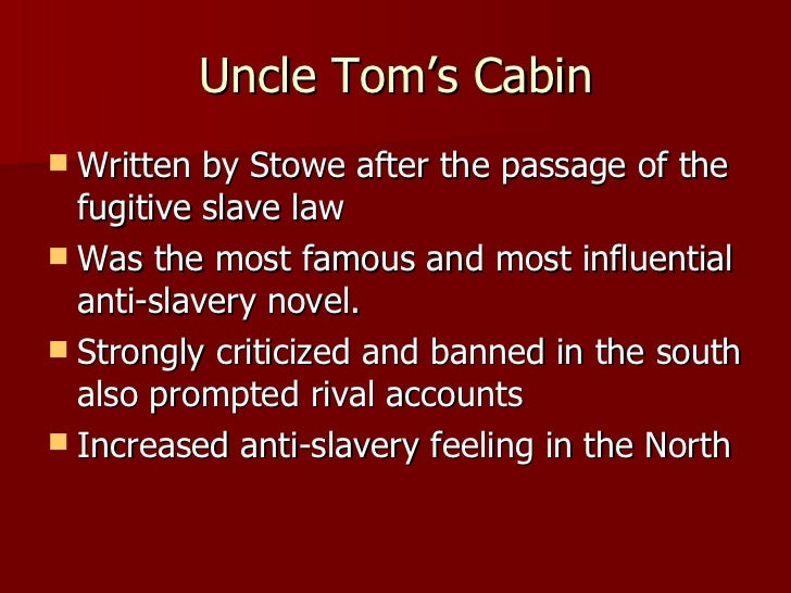 "an analysis of uncle toms story Stowe tells an amazing story that takes place shortly after the fugitive slave acts were put into act  analysis on ""uncle tom's cabin"" by:."