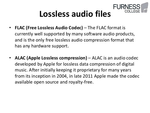 Uncompressed lossless lossy audio