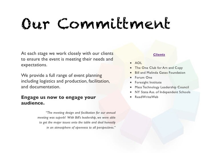 Our CommittmentAt each stage we work closely with our clients                                      Clientsto ensure the ev...