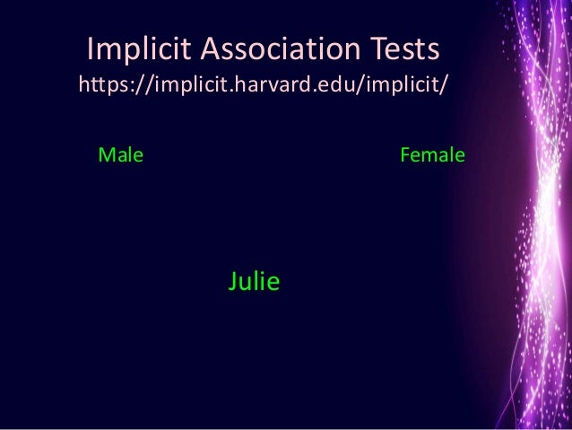 my opinion on the harvards implicit assumptions tests What lies beneath: the truth about unconscious bias  (called implicit association tests,  one of the lead researchers at harvard's project implicit has a .