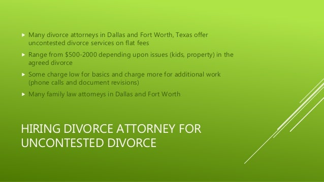 Uncontested Divorce In Dallas And Fort Worth