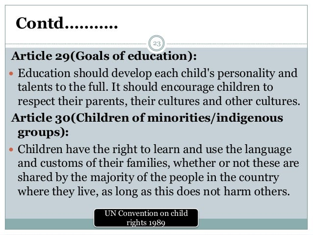 Precisely what might be a UNCRC?