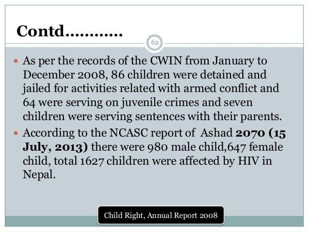 Child Right Annual Report 2008 62