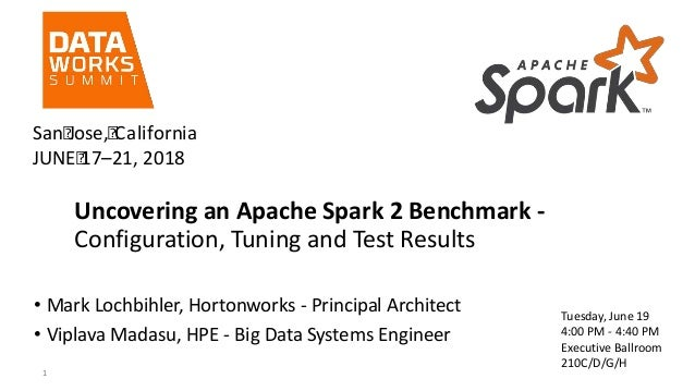 Uncovering an Apache Spark 2 Benchmark - Configuration, Tuning and Test Results • Mark Lochbihler, Hortonworks - Principal...