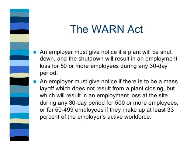 What is the warn act