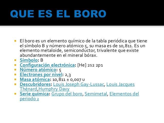 Uncp 4 el boro es un elemento qumico de la tabla peridica urtaz Gallery