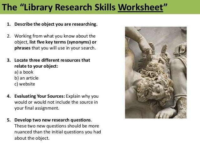 Art Library Instructional Assessment