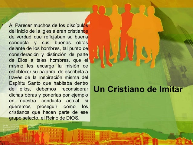 Un cristiano de imitar Slide 2