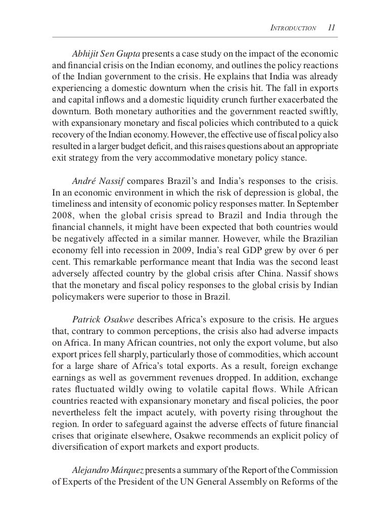 global financial crisis of 2008 2009 Abstract in contrast to the past, many emerging countries faced the global  financial crisis of 2008- 2009 with more solid financial positions and.