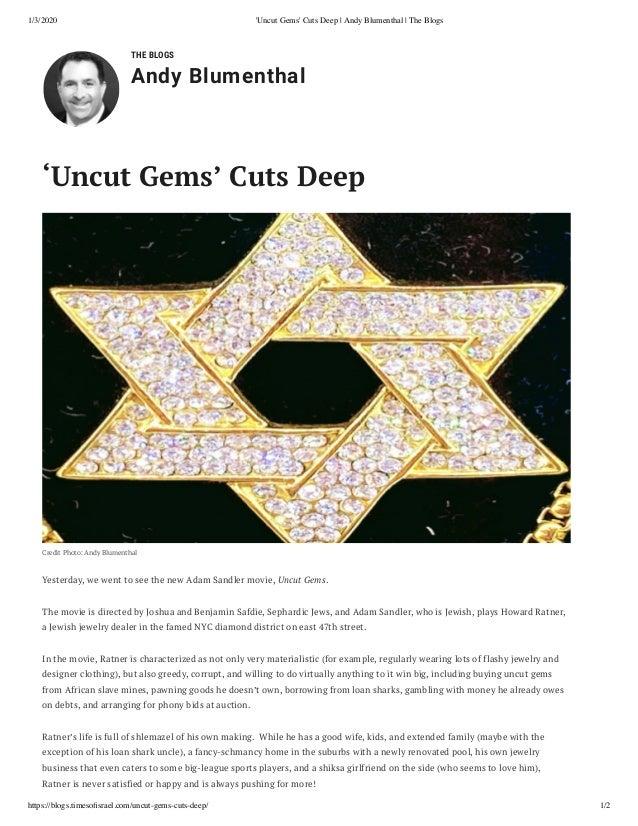 Uncut Gems Cuts Deep