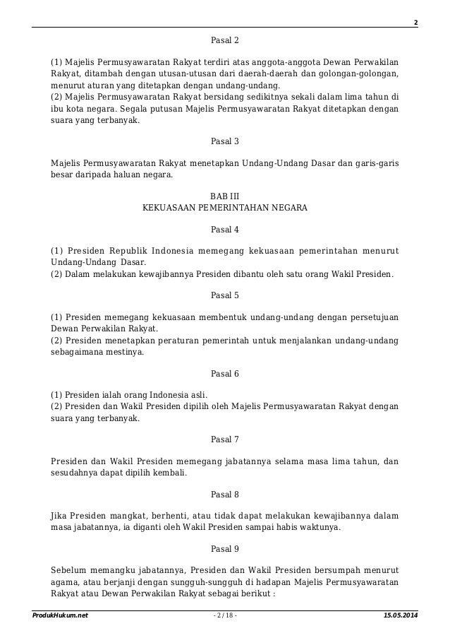 STRUKTUR KETATANEGARAAN INDONESIA SETELAH