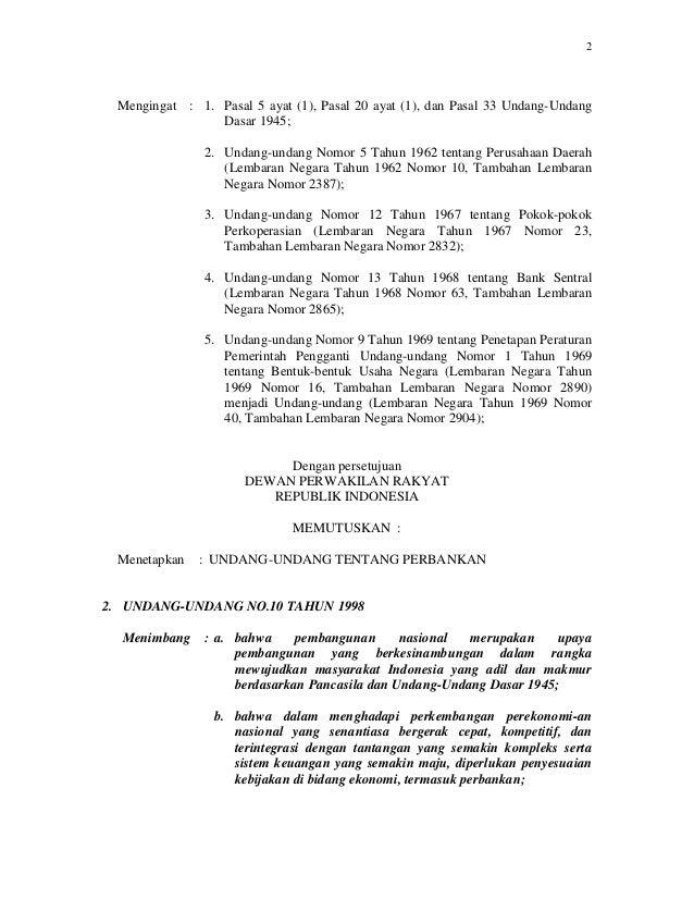 Undang undang-nomor-7-tahun-1992-tentang-perbankan-sebagaimana-diubah-dengan-undang-undang-nomor-10-tahun-1998 Slide 2