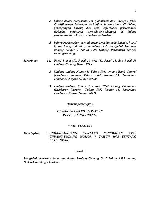 Undang undang-nomor-7-tahun-1992-tentang-perbankan-sebagaimana-diubah-dengan-undang-undang-nomor-10-tahun-1998 Slide 3