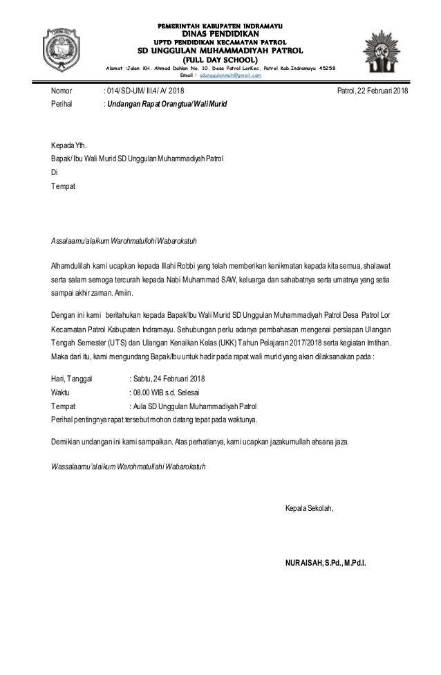 Contoh Surat Resmi Undangan Rapat