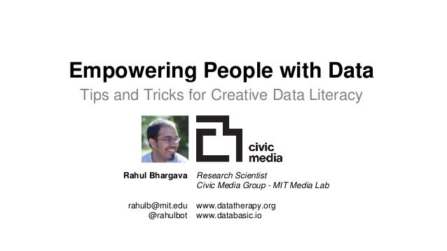 Empowering People with Data UN Word Data Form 1/17/2017 Rahul Bhargava Research Scientist @rahulbot 2 Empowering People wi...