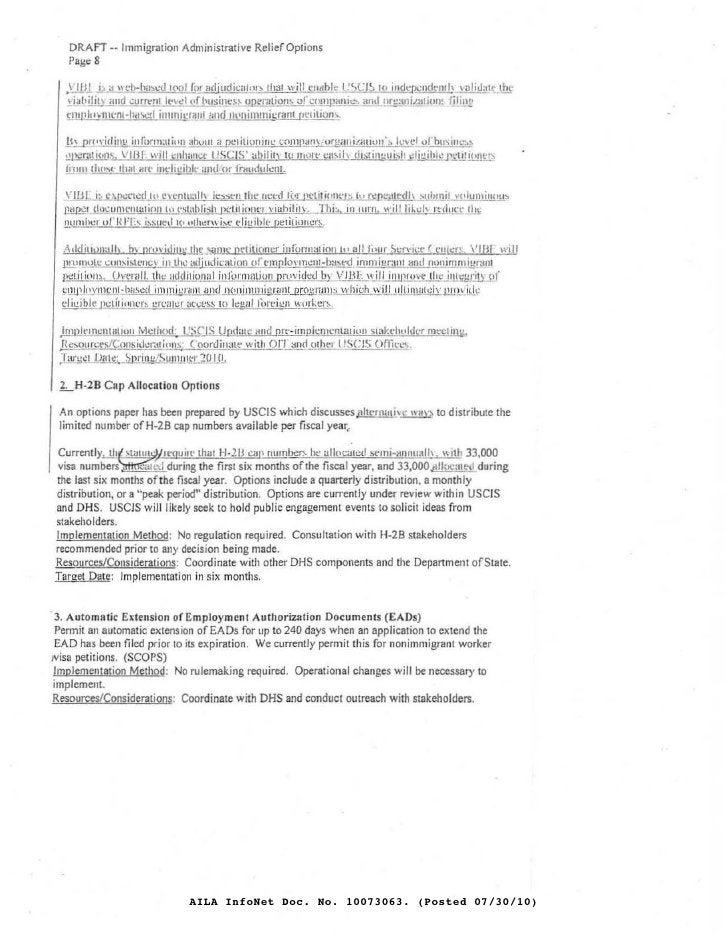 DRAfT -- Immigration Administrative Relier Opti ons     Page 8     .'J!lt                                        IlIijudil...