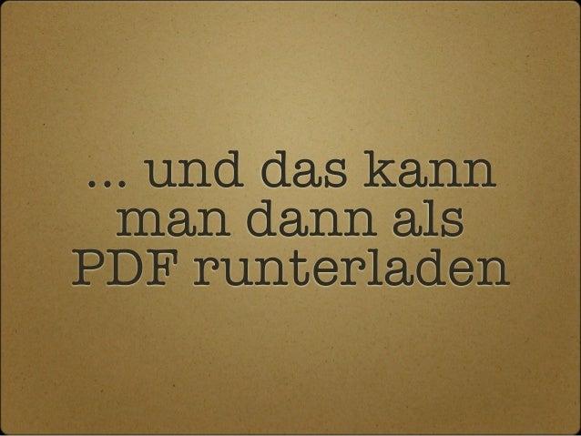 ... und das kann man dann als PDF runterladen