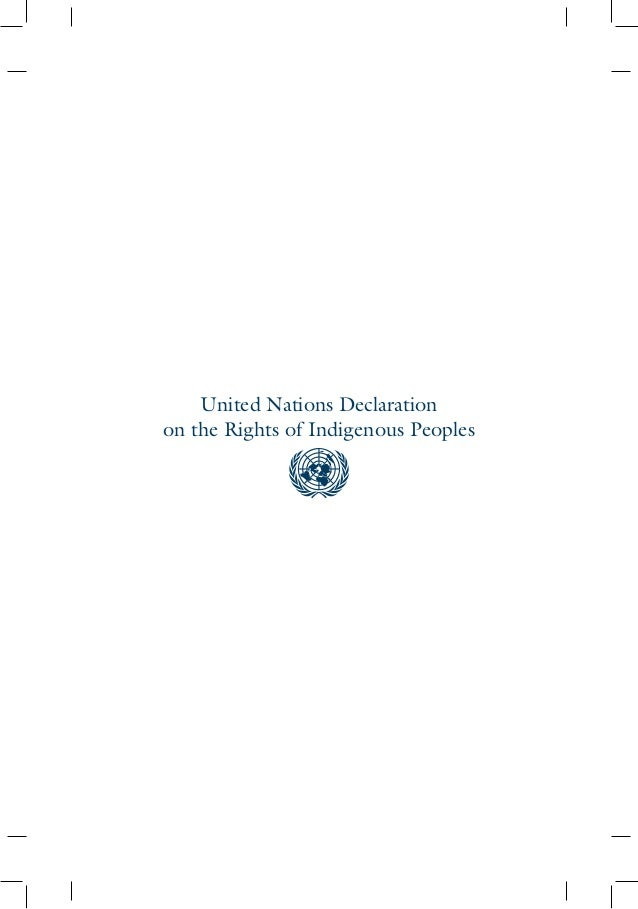 UN Declaration on the Rights of  Indigenous Rights Slide 2