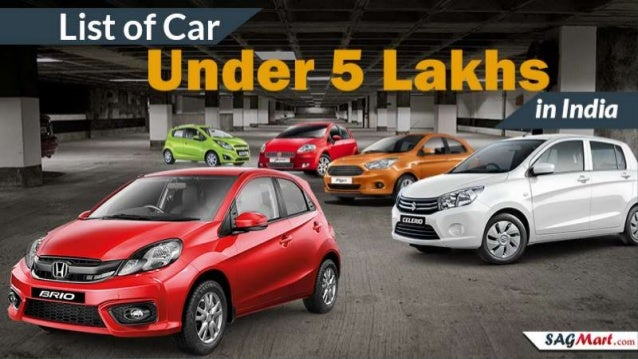 Look The Information Of New Cars Under 5 Lakhs In India