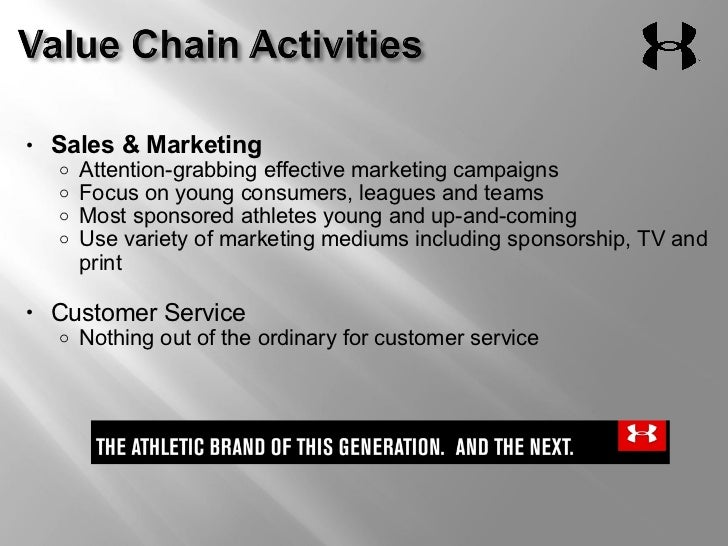 value chain analysis for under armour Analysis of the report includes various types of footwear including athletic and   adidas ag, puma, geox spa, skechers usa, inc, under armour, inc,   value chain of the footwear market size includes various stakeholders, such as.