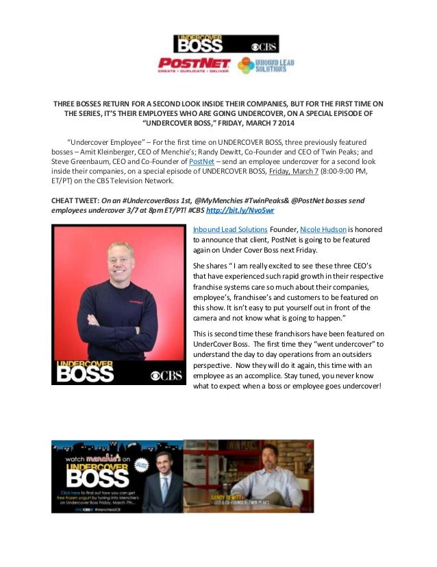 THREE BOSSES RETURN FOR A SECOND LOOK INSIDE THEIR COMPANIES, BUT FOR THE FIRST TIME ON THE SERIES, IT'S THEIR EMPLOYEES W...