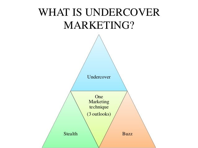 Undercover Marketing Indian Perspective