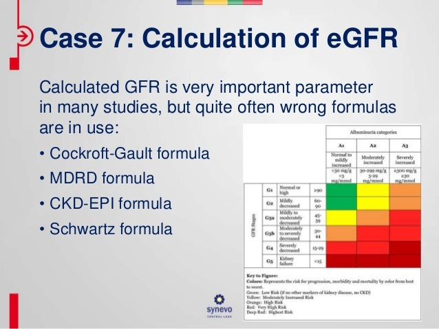 GFR estimation using the cockcroft-gault, MDRD study, and ...