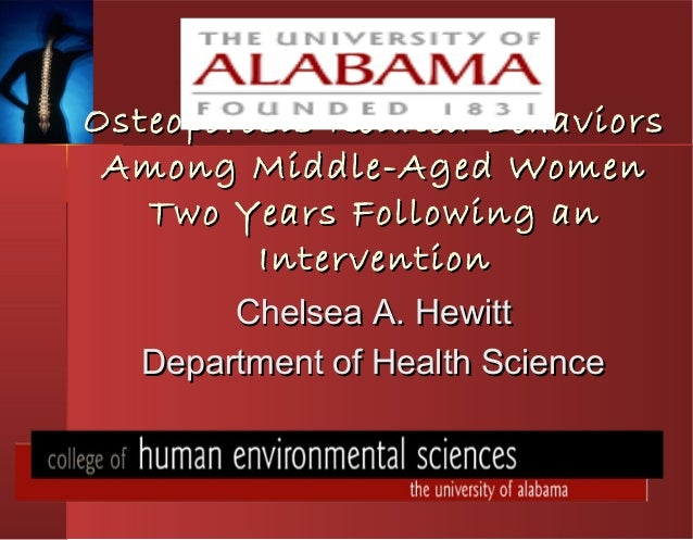Osteoporosis Related BehaviorsOsteoporosis Related Behaviors Among Middle-Aged WomenAmong Middle-Aged Women Two Years Foll...