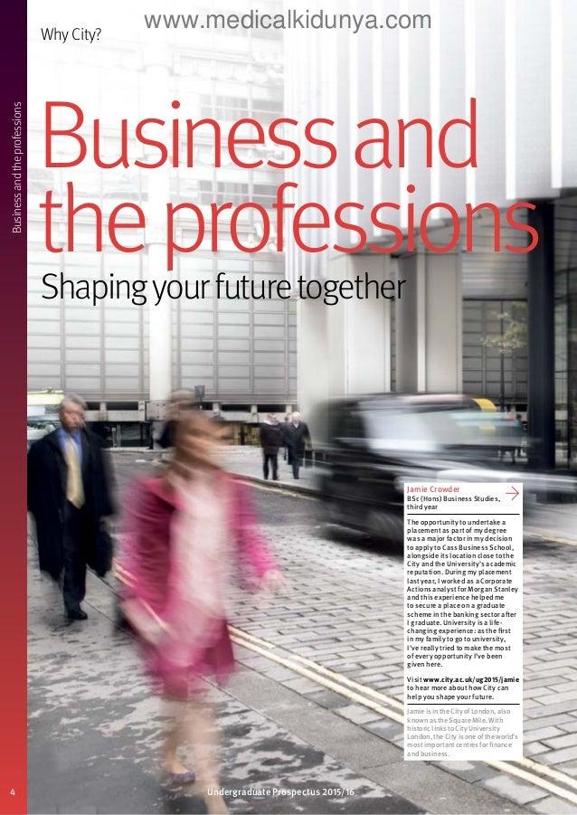 City University London Undergraduate Prospectus 2015