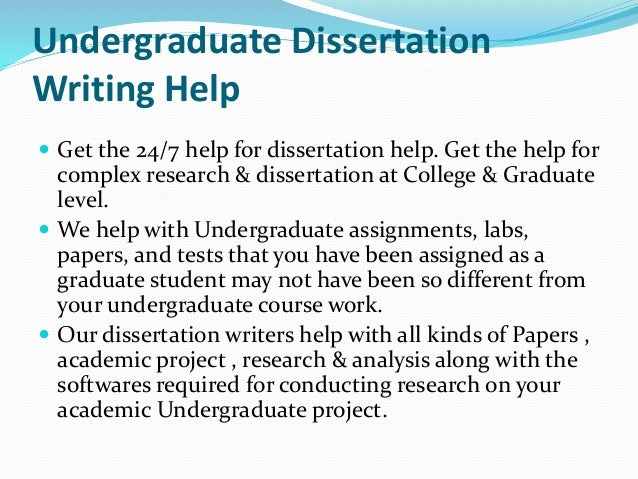 Dissertation writing services – When to use?