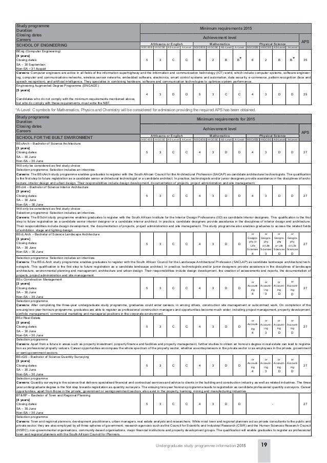 University Of Pretoria 2015 Undergraduate Study Programme Informati