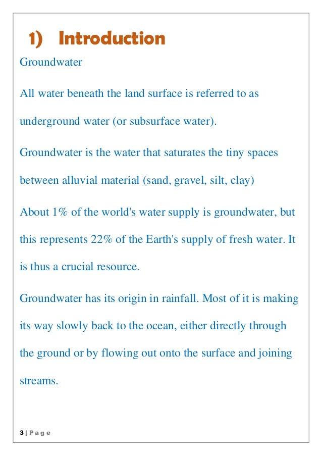 Introduction To Water Gardening: Underground Water
