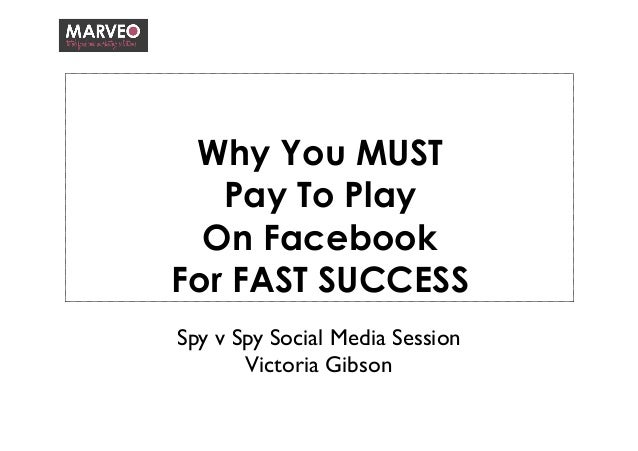 Why You MUST Pay To Play On Facebook For FAST SUCCESS Spy v Spy Social Media Session  Victoria Gibson
