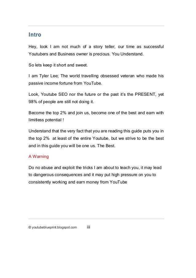 Underground blueprint to youtube success starter pack youtubeblueprintspot ii 3 malvernweather Gallery