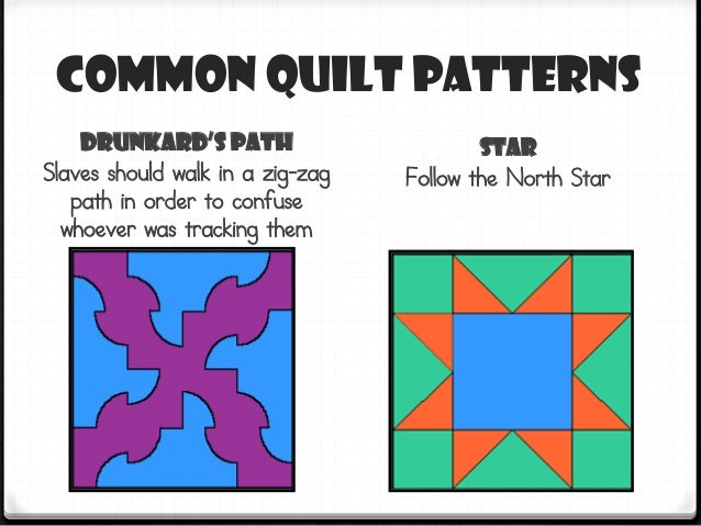 Quilt Patterns Slaves Used : Underground railroadquiltsquares