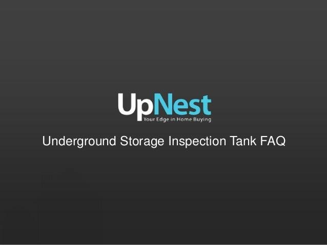 Underground Storage Inspection Tank FAQ