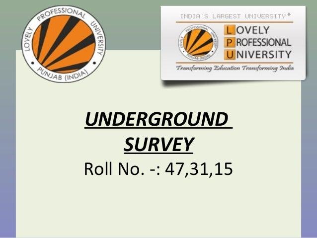 Underground survey