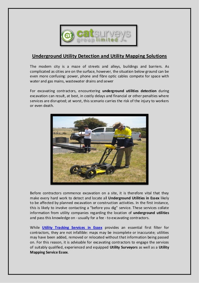 Underground Utility Detection and Utility Mapping Solutions The modern city is a maze of streets and alleys, buildings and...