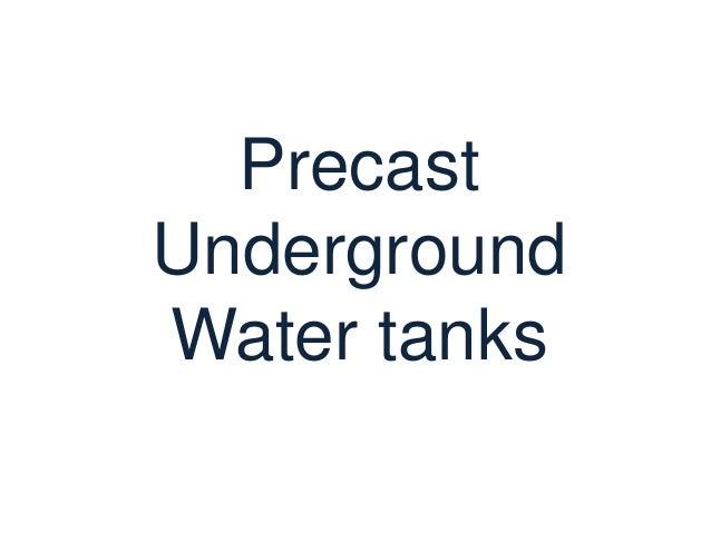 PrecastUndergroundWater tanks