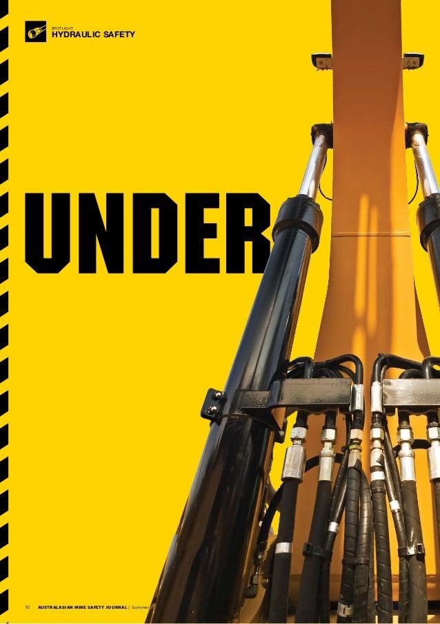 Hydraulic Pressure Safety : Under pressure hydraulic safety