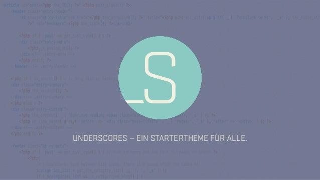 UNDERSCORES — EIN STARTERTHEME FÜR ALLE.