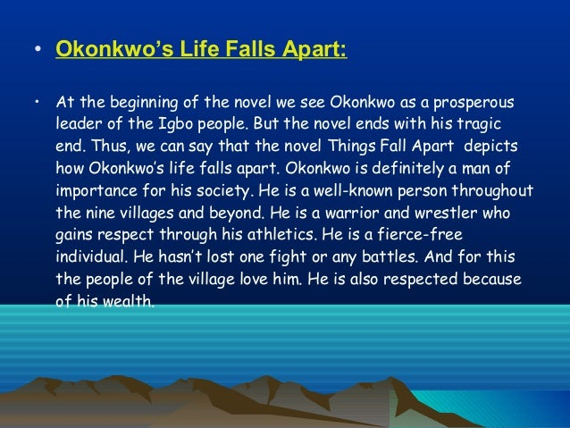 okonkwo s death At his death, obierika calls okonkwo  one of the greatest men in umofia (things fall apart, 208) wright claims this is a phrase used in this particular african society to describe someone like a tragic hero, who is most unlike his community but who, through his great strength and his ability to do more than it has ever.