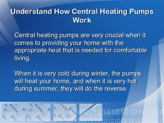 Understand How Central Heating Pumps Work