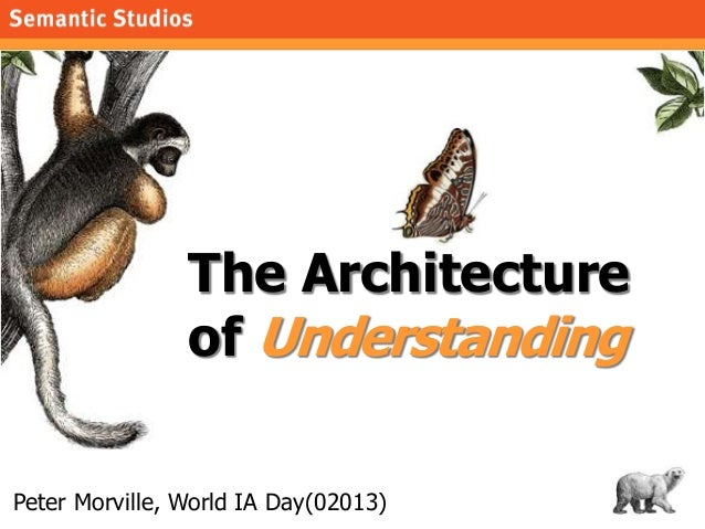 The Architecture                of UnderstandingPeter Morville, World IA Day(02013)   1