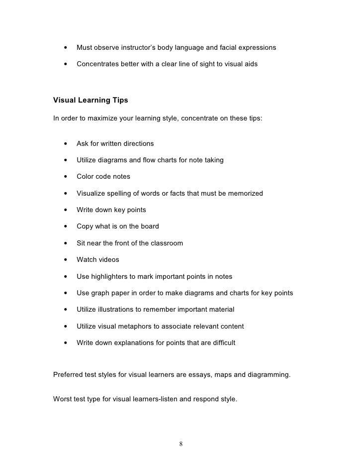 understanding learning styles  8